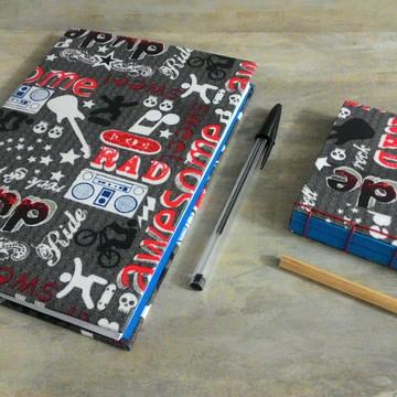 Kit Caderno e Bloco de Notas