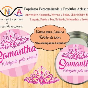 Rótulo Latinha: Coroa Menina/Princesa