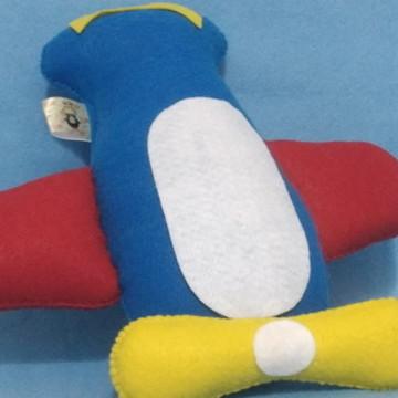 Avião pequeno príncipe em feltro
