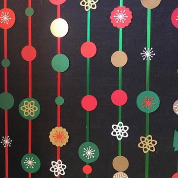NATAL Painel Fitas e SCRAP LUXO Cortina Christmas