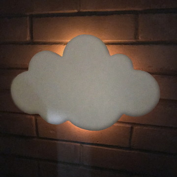 Nuvem Decorativa MDF branco
