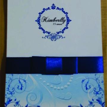 Convite 15 anos Azul