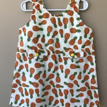 Vestido verão - Estampa Abacaxi