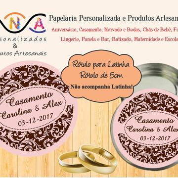 Rótulo Latinha Casamento, Noivado, Bodas