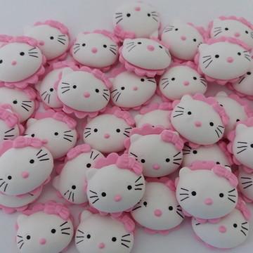 Apliques Rosto da Hello Kitty em Biscuit
