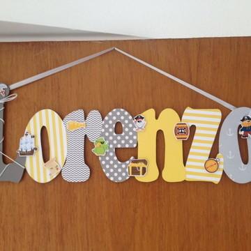 Nome decorado com 7 letras no tema desejado