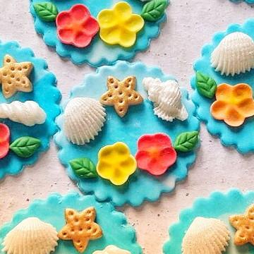 Cupcake Moana ou cupcake Fundo do Mar