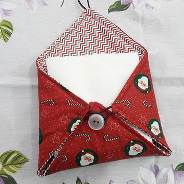Porta guardanapo natalino de tecido
