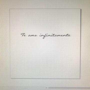 Frase de parede (arame) - Te amo infinitamente