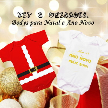 kit Body natal e Ano novo