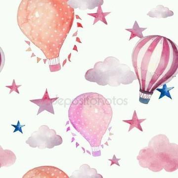 Papel de Parede Balão Estrelas