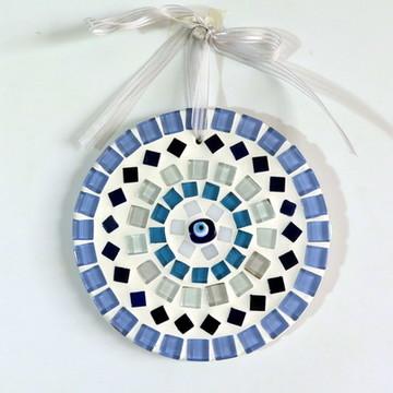 Mini mandala em mosaico olho grego