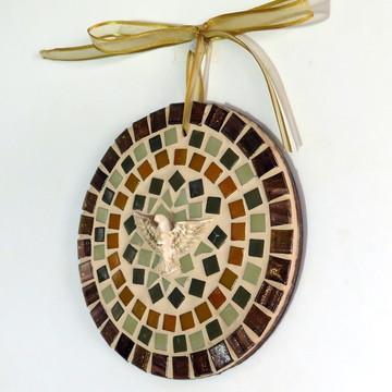 Mandala Divino em mosaico mini Marrom