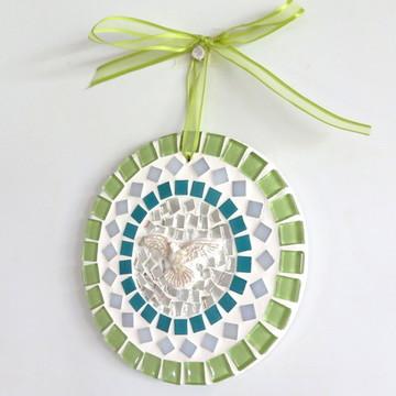 Mandalinha Divino em mosaico verde