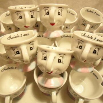 Xícara de Porcelana da Bela e a Fera Personalizada