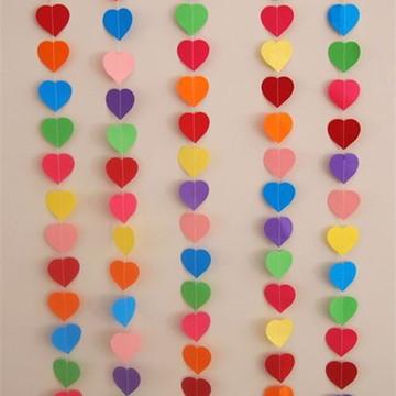 Cortina de coração Colorida
