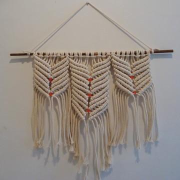 a5f5a8550f549 Narcisse - painel em macramê corda de algodão cru