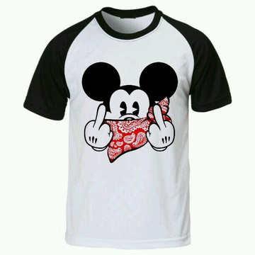 Camiseta Mickey Disney raglan