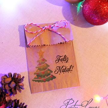 Saquinho Rústico - Lembrancinha de Natal