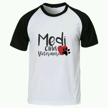 Camiseta Medicina Veterinaria raglan