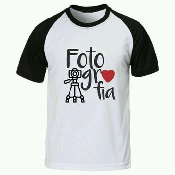 Camiseta Fotografia raglan