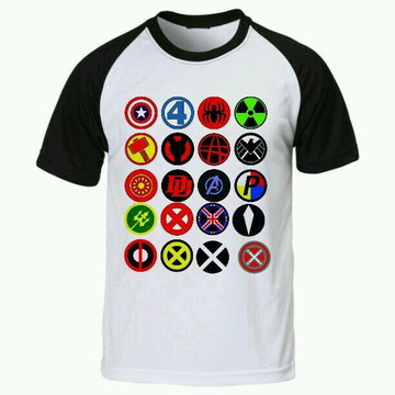 Camiseta Super Heroi raglan