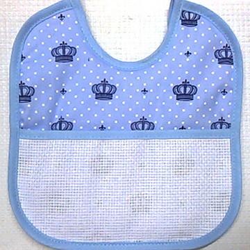 Babador Almofada Estampado - Azul