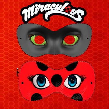 Máscaras Lady bug e catnoir
