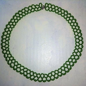 Colar Tramas - Miçangas Verde