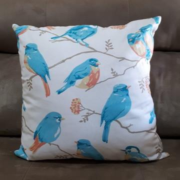 Almofada Pássaros 45 x 45 cm