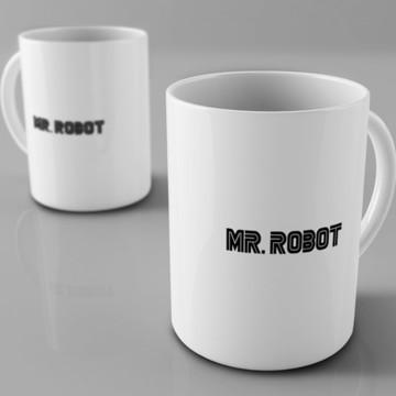 Caneca de porcelana Mr. Robot