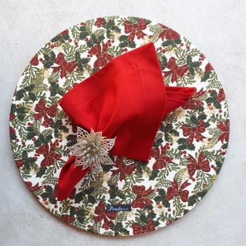 Kit com 7 Sousplat Natal