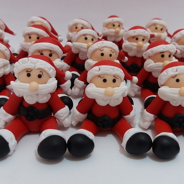 Miniaturas do Papai-Noel em Biscuit