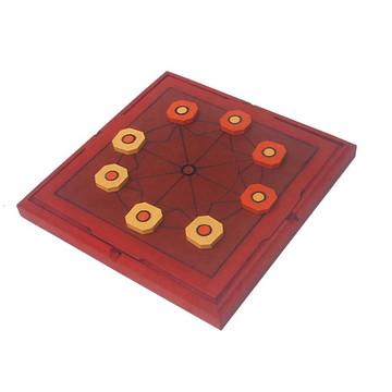 Mu Torere - Jogo de tabuleiro -Jogos e brinquedos em madeira