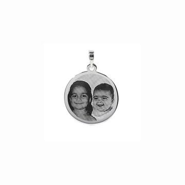 Pingente com foto de prata 925 fotogravaçao -AG11