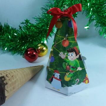 Caixa natalina com cone trufado