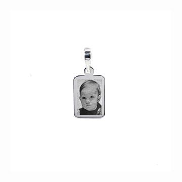 Pingente com foto de prata 925 fotogravaçao -AG21