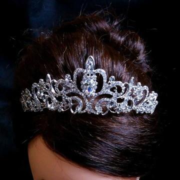 Coroa tiara cabelo noiva strass promoção