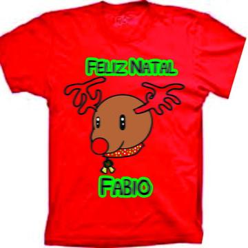 Camiseta infantil de caneira para Natal