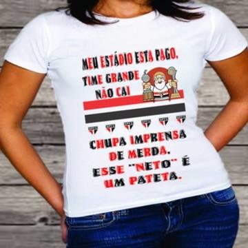 camiseta são paulo time grande não cai #078