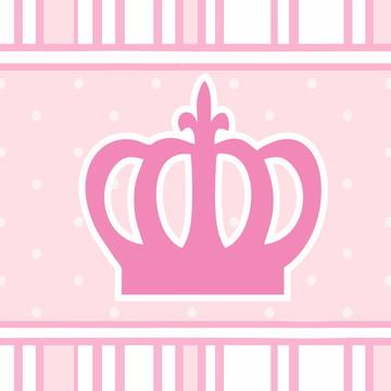 Faixa Adesiva Coroa Rosa