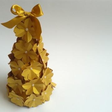 Árvore de Natal Origami - Flor Sakura