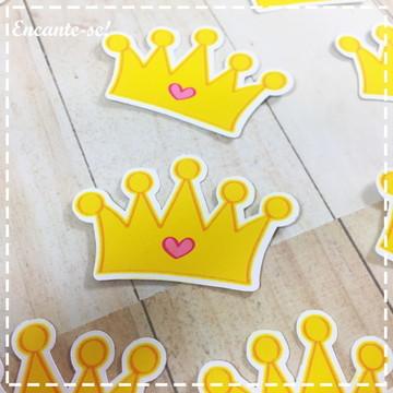 Apliques para lembrancinhas coroa princesa