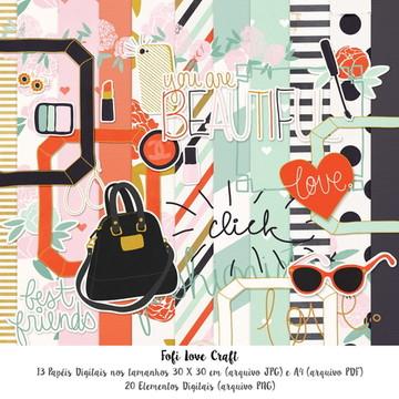 Papel Digital Fashion - Cód 258