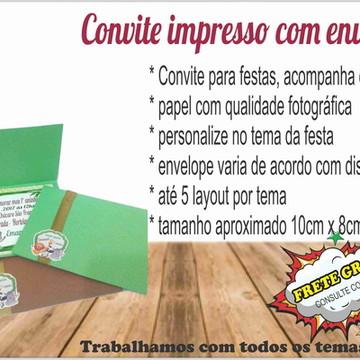 Convites para festas /impresso+envelope