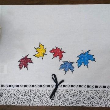 Pano de Prato Pintado Outono Colorido