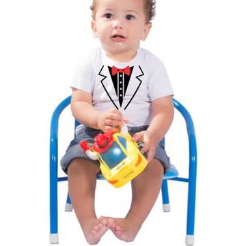 1b3805b7fc Camiseta Smoking Infantil Festa Fantasia Estampada Algodão
