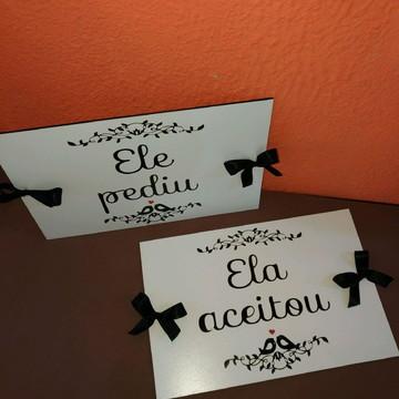 PLACA (PAR) ENSAIO DE FOTOS PRÉ WEDDING