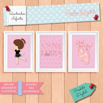 Quadrinhos Infantis Digitais Bailarina 1