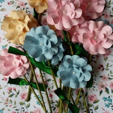 Flores No Palito- Lembrancinhas
